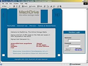 MachDrive - the online storage media